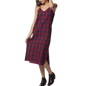 ✨PPLA Ella Plaid Flannel Midi Dress sz S
